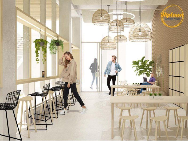 Hiptown nouveau concept de bureau flexible